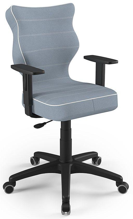 Krzesło młodzieżowe obrotowe niebieskie Duo Black